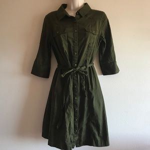 Merona Military Inspired Button Shirt Dress